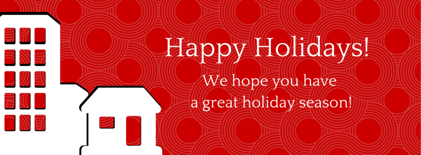 Happy Holidays! We hope you have a great holiday season!